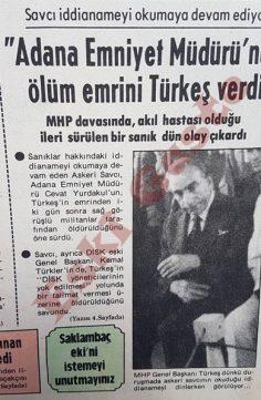 """""""Adana Emniyet Müdürü'nün ölüm emrini Türkeş verdi"""""""