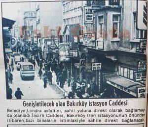 Bakırköy İstasyon Caddesi - Eski Fotoğraflar