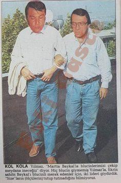Deniz Baykal ve Mesut Yılmaz kol kola