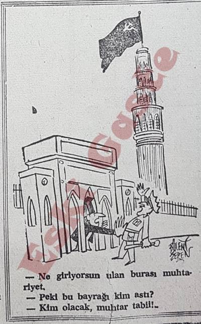 Bugün gazetesinde bir karikatür