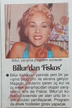 """Billur Kalkavan'dan """"fiskos"""""""