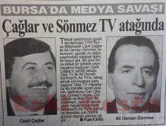 Bursa'da medya savaşı! Çağlar ve Sönmez TV atağında