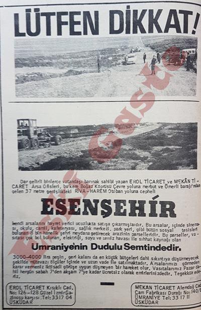 Dudullu Esenşehir reklamı