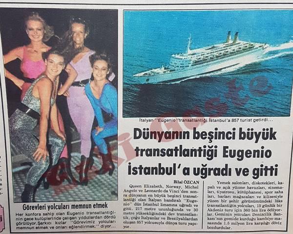 Dünyanın beşinci büyük transatlantiği Eugenio İstanbul'a uğradı ve gitti