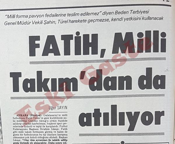 Gündüz Aktuğ'a saldıran Fatih Terim milli takımdan da atılıyor