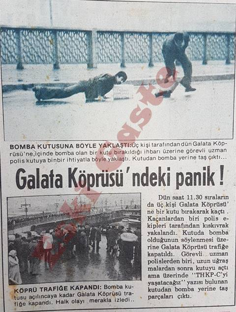Galata Köprüsünde bomba paniği