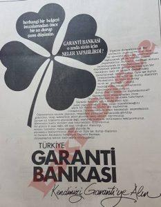 Garanti Bankası - Eski Reklamlar