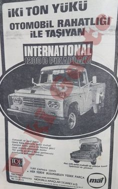 International 1200 D pikap reklamı