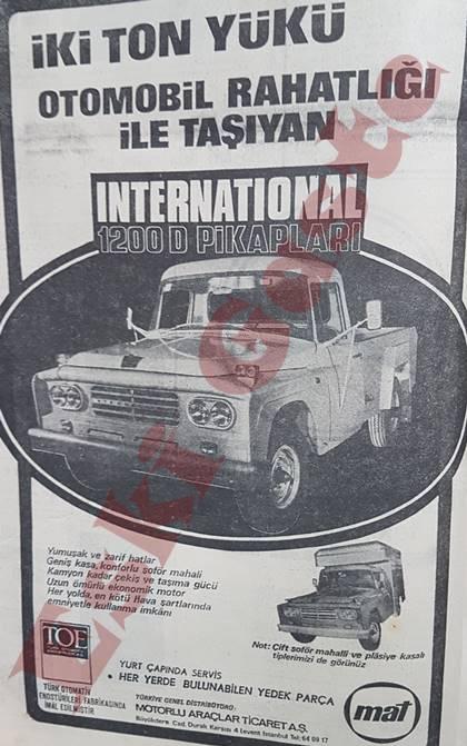 International 1200 D pikap reklamı