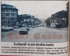 Kızıltoprak'ta yolu daraltan binalar