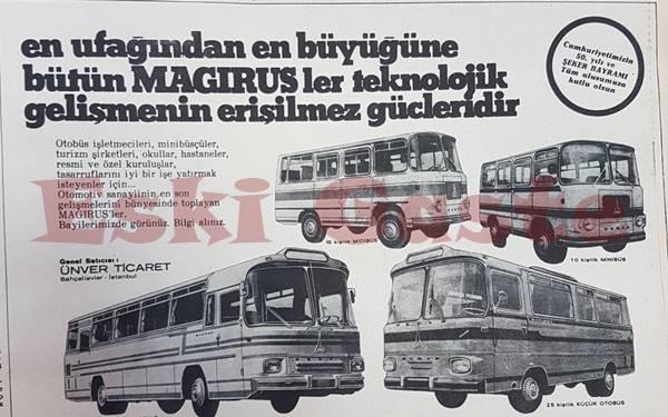 Magirus otobüs minibüs reklamı