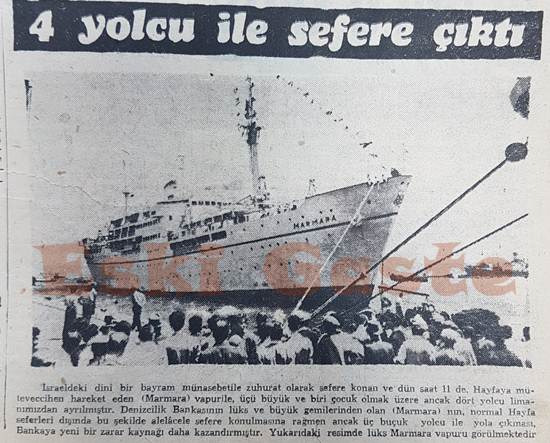 Marmara vapuru 4 yolcu ile sefere çıktı