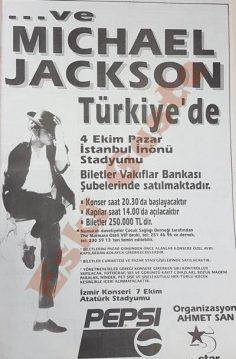 Michael Jackson İstanbul Konseri reklamı