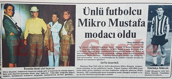 Mikro Mustafa modacı oldu