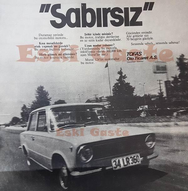 Murat 124 reklamı