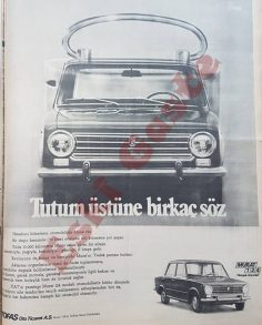 1973 yılından Murat 124 reklamı