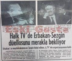 Halk TV'de Erbakan – Sezgin düellosunu merakla bekliyor