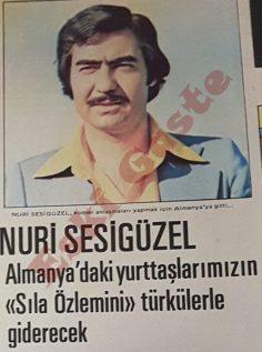 Nuri Sesigüzel Almanya'daki yurttaşlarımızın sıla özlemini türkülerle giderecek