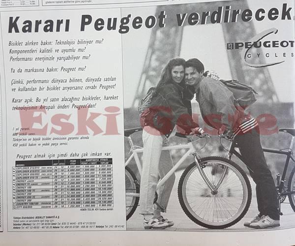 Peugeot bisiklet reklamı