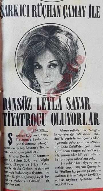 Rüçhan Çamay ile Leyla Sayar tiyatrocu oluyorlar