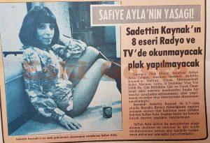 Safiye Ayla - Eski Magazin Haberleri