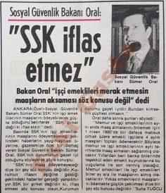 SSK iflas etmez