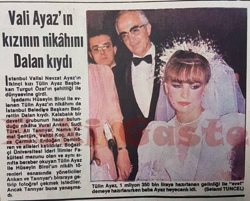 Nevzat Ayaz'ın kızının nikahını Bedrettin Dalan kıydı