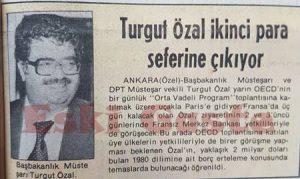 Başbakanlık Müsteşarı Turgut Özal