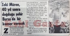 Zeki Müren, 40 yıl sonra doğduğu şehir Bursa'da bir konser verecek