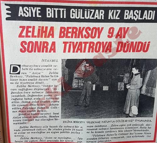 Zeliha Berksoy 9 ay sonra tiyatroya döndü