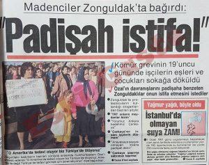 Zonguldak madenci yürüyüşü