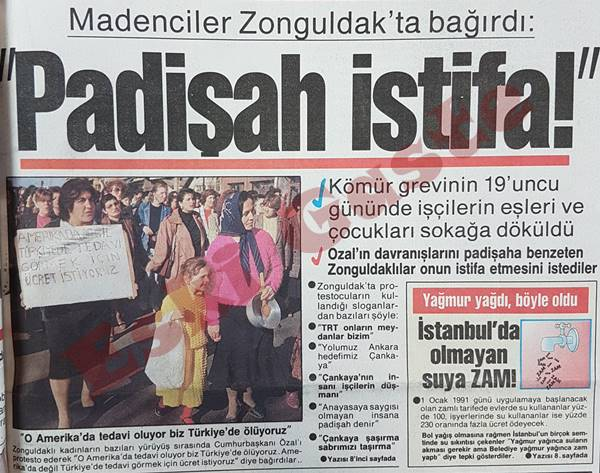 Madenciler Zonguldak'ta bağırdı: Padişah istifa