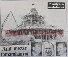 Adnan Menderes'e Anıt Mezar tamamlanıyor