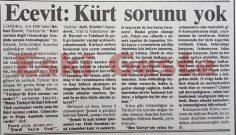 Bülent Ecevit: Kürt sorunu yok