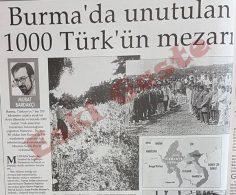 Burma'da unutulan 1000 Türk'ün mezarı