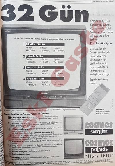 Cosmos televizyon reklamı