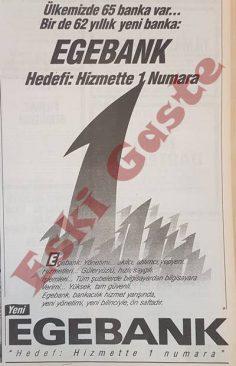 1990 yılından Egebank reklamı