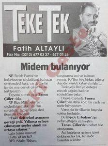 Fatih Altaylı - Tansu Çiller