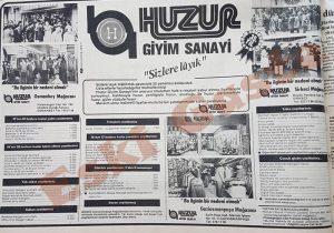 Huzur Giyim - Eski Reklamlar