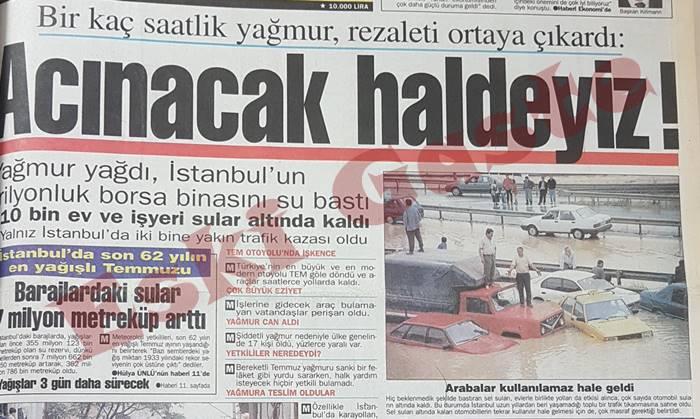 """İstanbul'da sel! Sokaklar Venedik'e döndü! """"Zararımızı kim ödeyecek"""""""