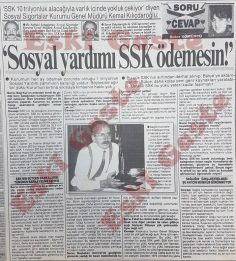 SSK Genel Müdürü Kemal Kılıçdaroğlu ile 1992 yılında yapılan röportaj