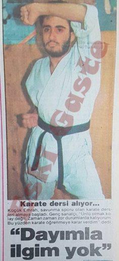 Küçük Emrah karate dersi alıyor