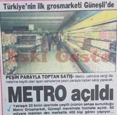 Türkiye'nin ilk grosmarketi Metro Güneşli'de açıldı