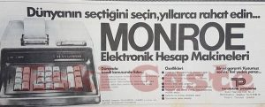 Monroe Hesap Makinesi - Eski Reklamlar