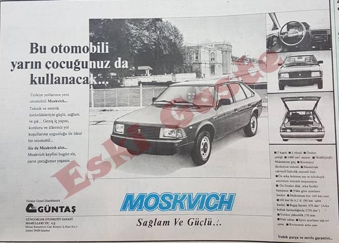 Moskvich araba reklamı