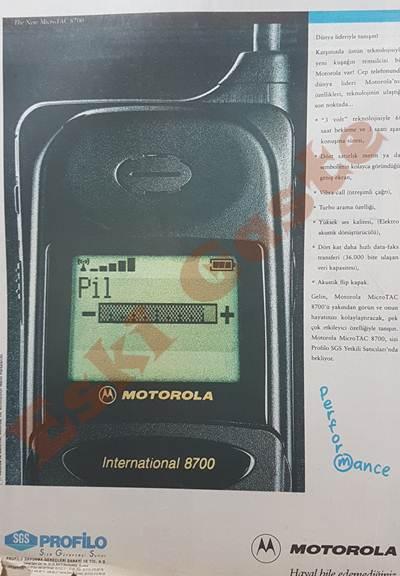 Motorola MicroTAC International 8700 reklamı