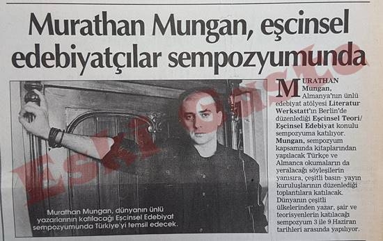 Murathan Mungan eşcinsel edebiyatçılar sempozyumunda