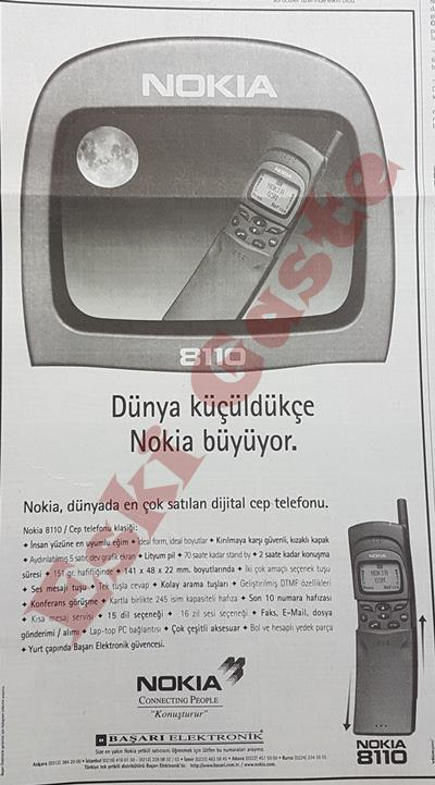 Nokia 8110 reklamı
