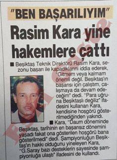 Rasim Kara yine hakemlere çattı