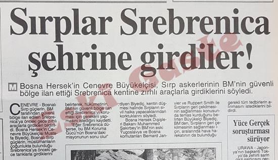 Sırplar Srebrenica şehrine girdiler
